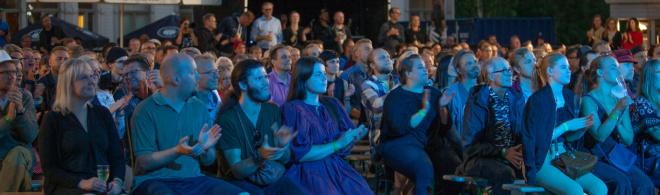 yleisöä Elojazzissa 2018